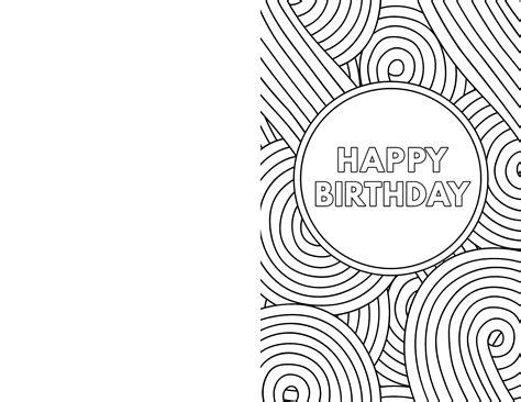 Free Printable Happy Birthday Coloring Card