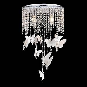 Crystal angel girl s room ceiling lamps romantic kid