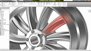 Alloy Wheel Design Software Autodesk Inventor Slow Version Easy Tutorial Rim Design