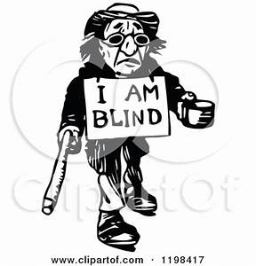 Blind Man Clipart - Clipart Kid