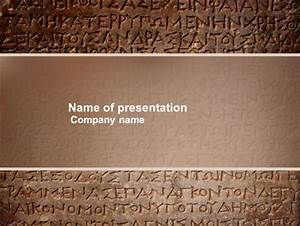 Greek Script Presentation Template for PowerPoint and ...
