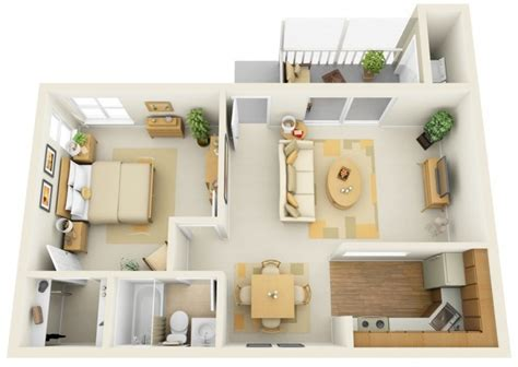 Home Design 1 Bhk : 1 Bhk House Plan