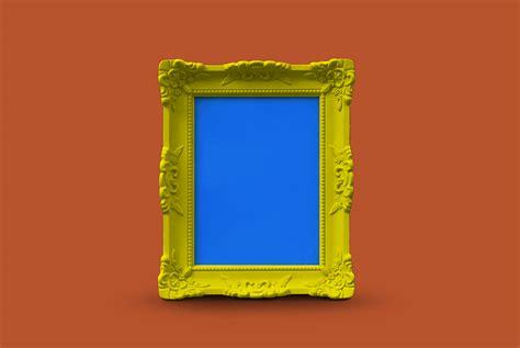wooden frame mockup psd  mockup