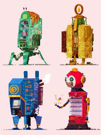 Cyberpunk Vending Machines Iii Pixelart Behance Saturday