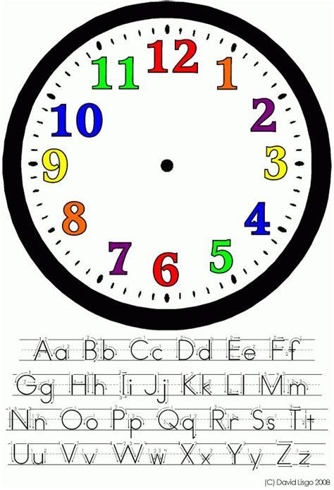 clock face clock template clock  kids clock face