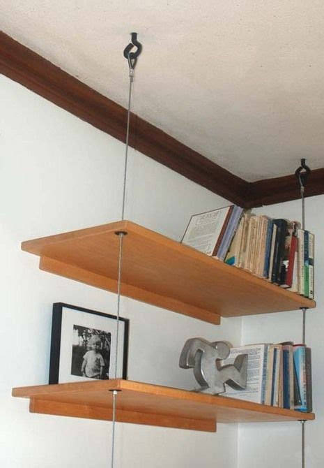 ceiling hanging shelf diy able suspended shelving remodel diy