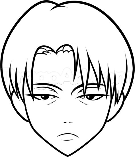 draw levi easy step  step anime characters