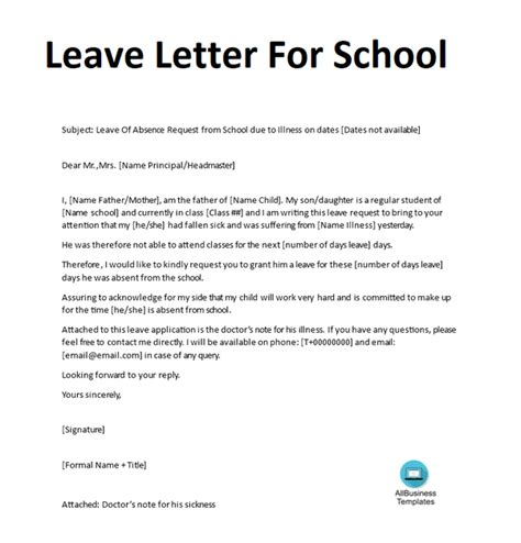 write  absent excuse letter  school quora