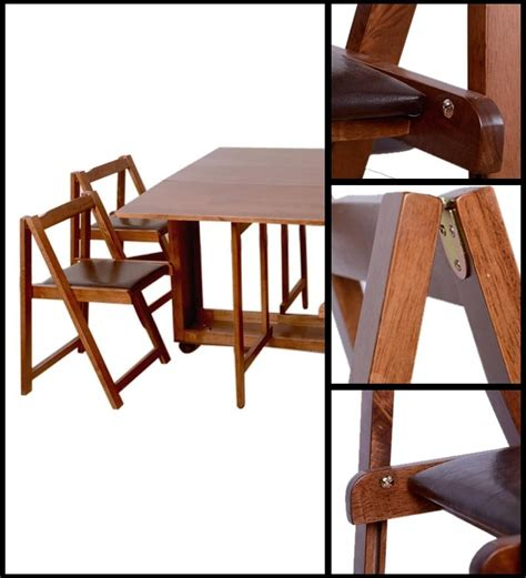 table with chairs that store inside 20 inspirations compact folding dining tables and chairs