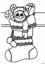 Coloring Christmas Pages Around Sock Categories sketch template