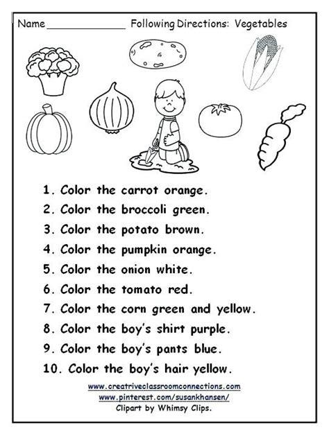 directions worksheet  images