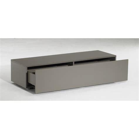 meuble tv bas delta 1 tiroir taupe mat 120cm achat