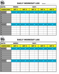 free printable workout log free download aashe With fitness program template free download