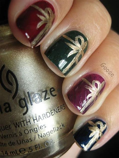 easy christmas present nail art designs ideas trends