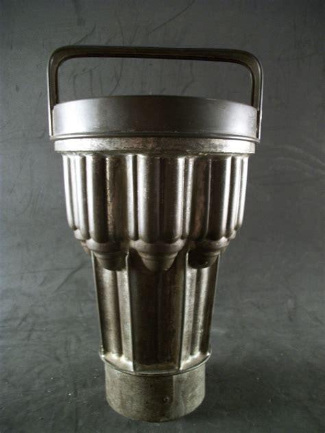 details   antique tin tube cake pan wlid steam