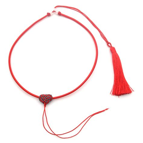 string pendant l diy chinese knot tassel cord string diy necklace for jade