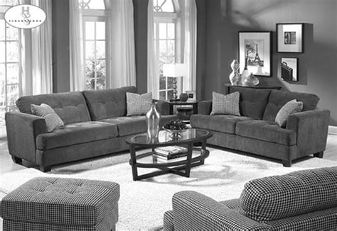 Plush Grey Themes Living Room Design With Grey Velvet Sofa