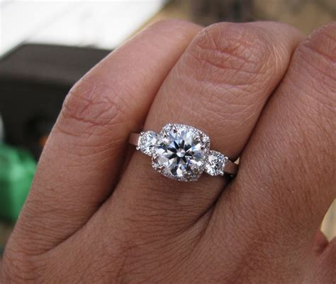 show me your 1 1 5 carat engagement rings weddingbee page 6 1 3 ct size 6 bling