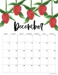 printable  floral calendar paper trail design