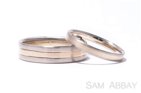 bague mariage or blanc rings with inlay new york wedding ring