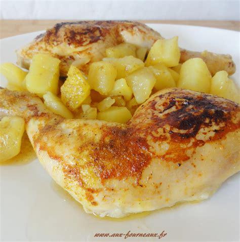 cuisiner poulet entier cuisse de poulet rôtie sauce curry aux fourneaux