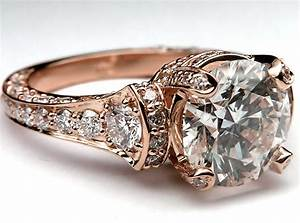 rose gold ring rose gold ring pave diamonds With rose gold diamond wedding ring
