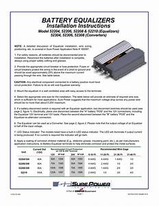 Battery Equalizers Installation Instructions Model 52204  52206  52208  U0026 52210  Equalizers