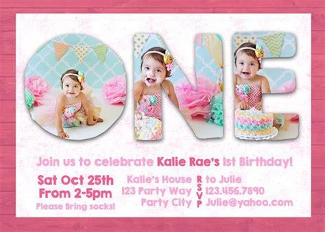 photoshop template  st  birthday invite