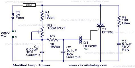 Modified Lamp Dimmer Circuit Electronic Circuits