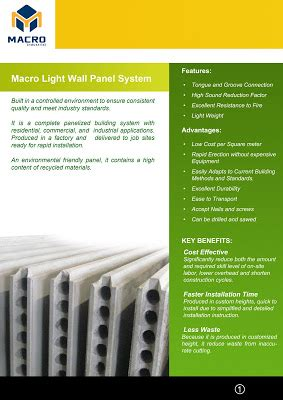 macro industrial macro light wall panel system