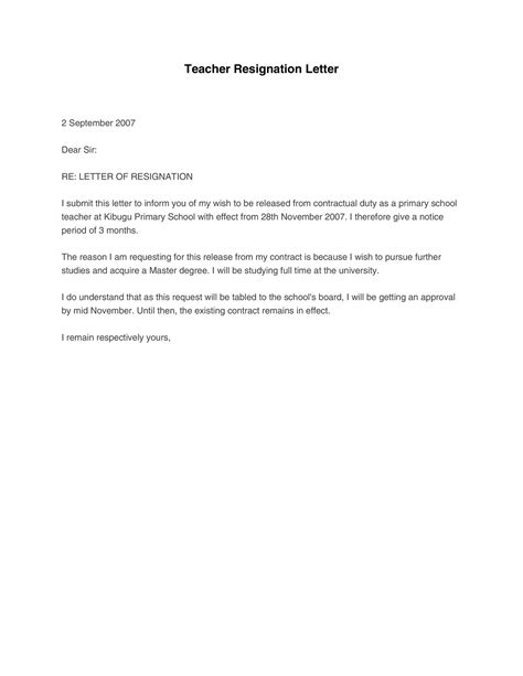 Resignation Letter For School Due To Marriage | Letter Template