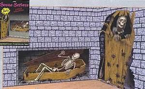 Deko Sarg Halloween : skelett im sarg wandfolie halloween partydeko horror ~ Markanthonyermac.com Haus und Dekorationen