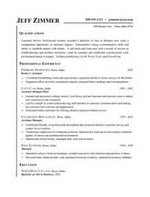 basic customer service resume format exles customer service resume exle business assistant host