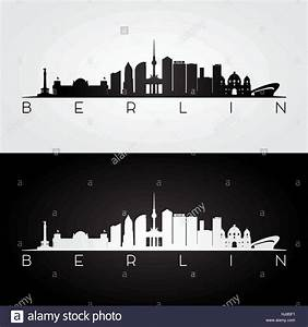 Berlin Schwarz Weiß Bilder : berliner skyline und wahrzeichen silhouette schwarz wei design vektor illustration vektor ~ Bigdaddyawards.com Haus und Dekorationen