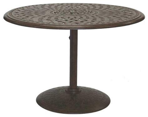 rustic outdoor dining table darlee santa barbara dining table with series 60 pedestal