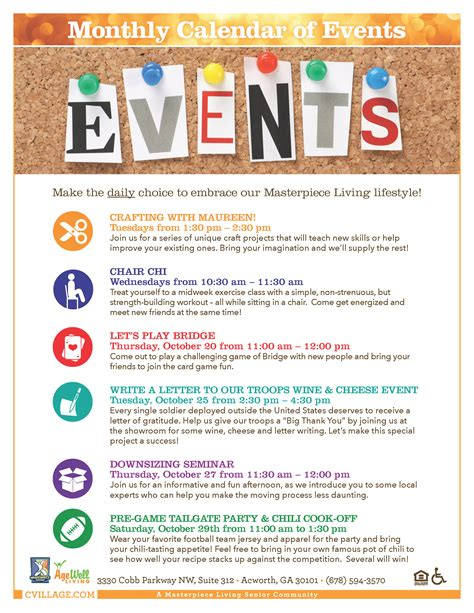 community events calendar template celebration village write a letter to our troops caign