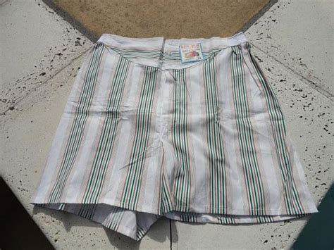 Nos Vintage 50s 60s Mens Fruit Of The Loom Cotton Striped