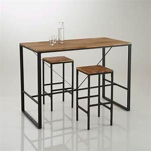 Table Cuisine Haute : id e relooking cuisine table de bar haute hiba inspir e du mobilier industriel en guise de ~ Teatrodelosmanantiales.com Idées de Décoration