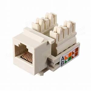 Cat5e Rj45 Lan Wall Punch Down Keystone Jack Modular Network Ethernet White Sale