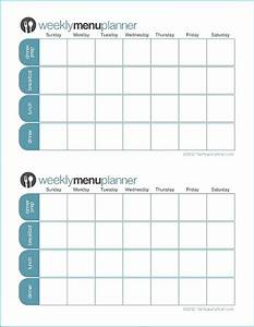 The peaceful mom for Two week meal plan template