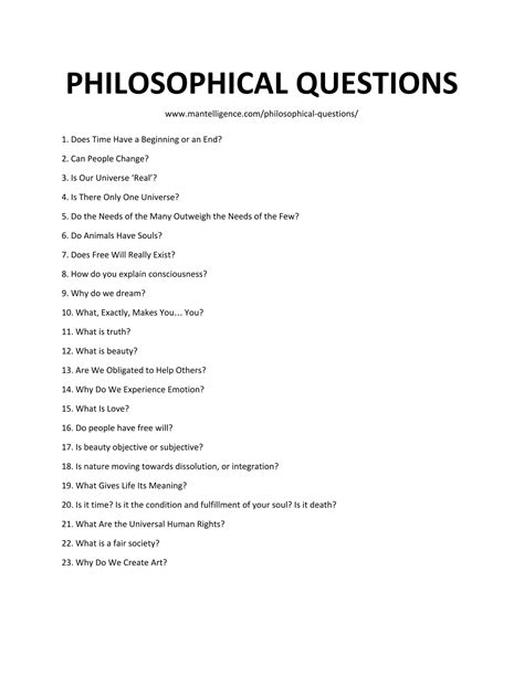 30 Deep Philosophical Questions  Highly Thoughtprovoking