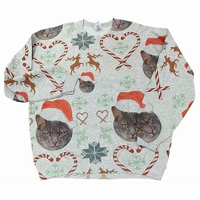Merry Catmas Crewneck Sweatshirt Unisex Sweater