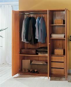 Armoire Chambre Profondeur 50 : armoire dressing 3 portes en rotin brin d 39 ouest ~ Edinachiropracticcenter.com Idées de Décoration