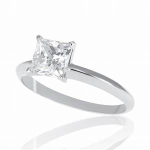 1 2 carat d vs2 diamond engagement ring princess cut 18k With princess cut wedding rings 2 carat
