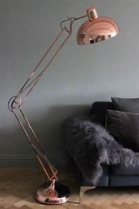 living room ideas 2016 decorating with copper With giant angled floor lamp copper