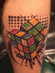My Rubik's cube tattoo (DaYan cube)   tattoos   Pinterest ...
