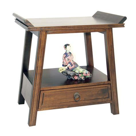 table de chevet asiatique chevet asiatique en bois massif rangement pour la chambre
