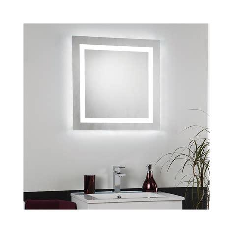 Led Illuminated Bathroom Mirror by Endon Lighting El Cabrera Led Square Switched Illuminated