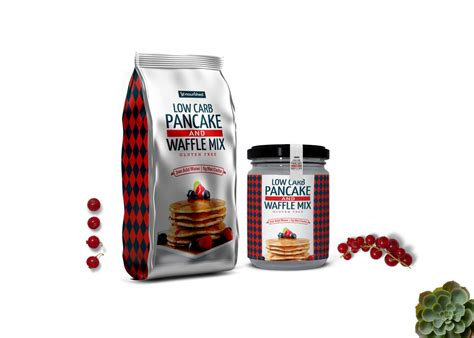 Layered psd easy smart object insertion license: Waffle Mix Pancake Stand up Pouch Jar Combo Mockup - FREE ...