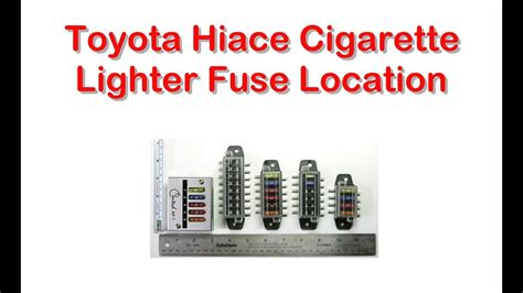 toyota address toyota hiace cigarette lighter fuse wiring diagrams